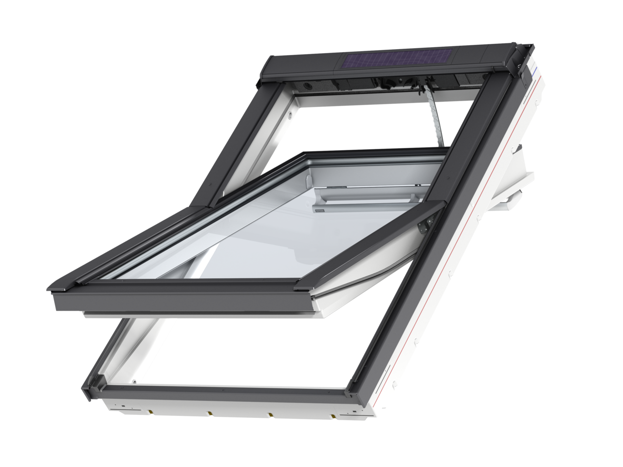 Velux White Polyurethane Solar Centre Pivot Roof Window Ggu